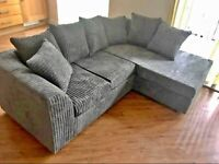 👌💞ELEGANT JUMBO CORD DYLAN CORNER SOFA AVAILABLE IN AWESOME COLOURS WITH CASH ON DELIVERY 🚚💯
