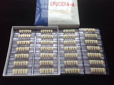 28 Plate 6x1 A2 Lower Incisor Shanghai Acrylic Resin Teeth Dental Free Shipping