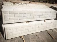 ⭐️ heavy duty ⭐️ concrete Fencing brick effect / 6ft x 1ft gravel board