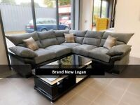 BRAND NEW LOGAN COUCHE CORNER AND 3+2 SEATER SOFA SET AVAILABLE IN SOTCK ORDER NOW
