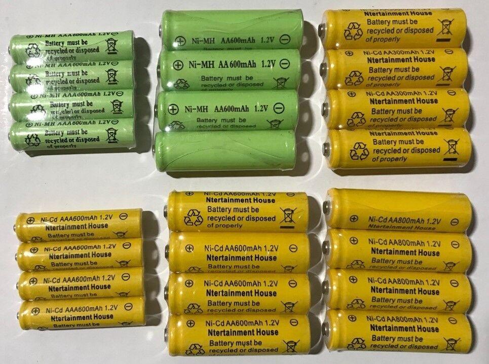 4-pcs1.2v AA / AAA 600mAh And Ni-Cd / Ni-MH Rechargeable Bat