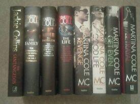 Martina Cole books & 1 Jackie Collins book