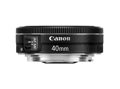 [Canon] EF 40mm f/2.8 STM Pancake Lens (Bulk Package) - Black