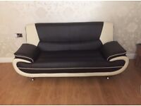 Faux Leather Sofa 3 seater