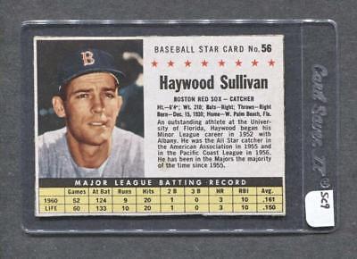 1961 Post #54 Haywood Sullivan (Red Sox) (SC9)  Ex+  (Flat Rate Ship)  (Haywood Sc)