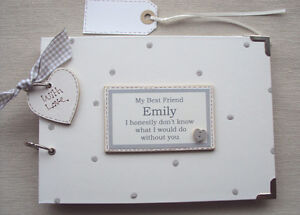 PERSONALISED...  ** BEST FRIEND**  .A5 SIZE  PHOTO ALBUM/SCRAPBOOK/MEMORY BOOK