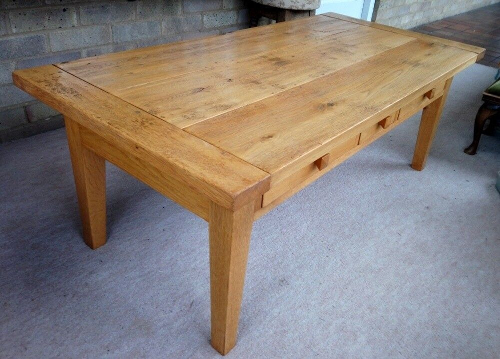 Furniture Village 3 Drawer Oak Coffee Table With Character In Costessey Norfolk Gumtree