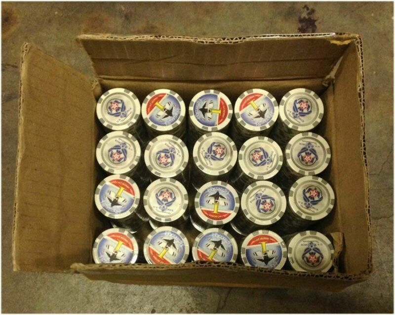 """1000 Poker Grey """"1"""" Chips Thunderbird Clay Composite 11.5 gr GREAT DEAL *"""