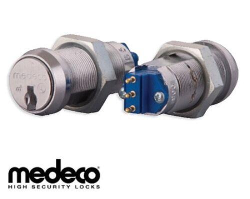 Medeco On-Off Key Switch Lock, Momentary (Spring Return), Single Pole w/ 1 Key