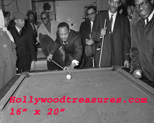 "Martin Luther King~Playing Pool~#2~Billiards~Shooting Pool~16""x 20"" Photo"