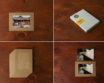 3 x 5 Photo Box Refill _ 3x5 Photo Paper Frames - Kraft - 30 Paper Frames Lot