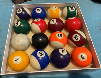 4 Happ 2 1//4 Inch 6oz 8 Balls For Pool Billiard Table New Old Stock
