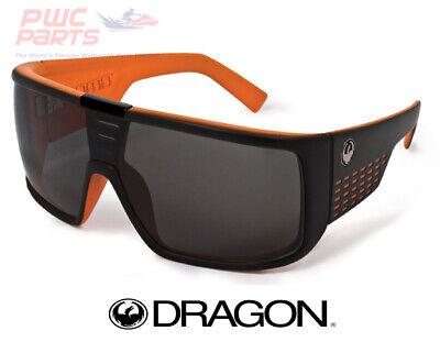 DRAGON DOMO Matte Black Orange w/ Gray Lens Sunglasses (Domo Dragon)