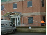 48' PowerPole Water Fed Pole Window Cleaning made in London from Aerospace alloy tubing 4 strength