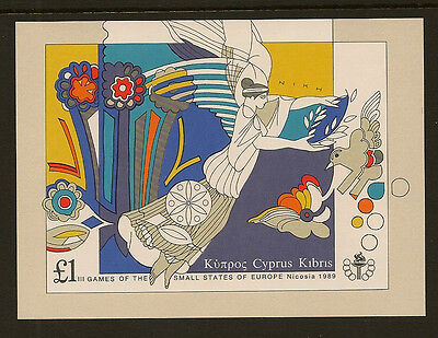 CYPRUS : 1989 Small States Games Min.Sheet  SG MS 739 unmounted mint
