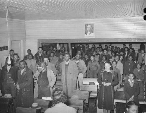 African-American Farmers Meet for Soil Conservation Talks Oklahoma-1940 Photo