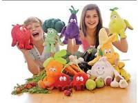 Wanted fruit and vegetable soft toys