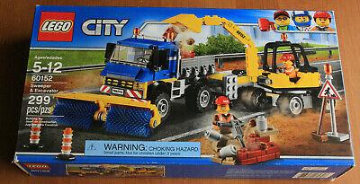 Lego City Sweeper & Excavator 60152. New in sealed box. Retired set. Damaged box