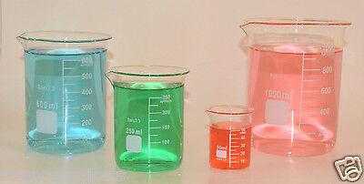 Beaker Set 1000 600 250 50 Ml Griffin Graduated Borosilicate Glass Beakers