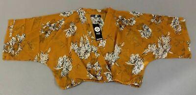 Boohoo Women's Plus Rosie Floral Smock Top AH7 Mustard Size US:12 NWT