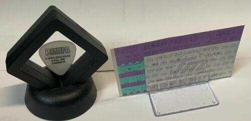 Pantera Dimebag Darrell Signature White Guitar Pick W/ 1995 Concert Ticket #E7