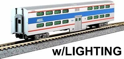 KATO N Scale Pullman Bi-Level Coach Chicago Metra #7848 #156-0971-1 -