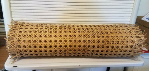 """Vintage Roll Wicker Cane Replacement Webbing Chair Caning Material 24"""" wide"""