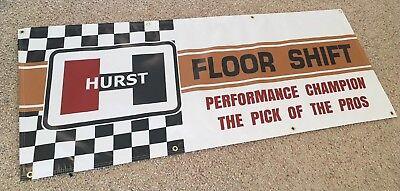 HURST FLOOR SHIFT Garage Banner Sign (Large 2'x5')