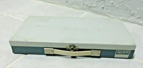 Smith Victor Metal Slide File Box SF2 Blue Holds 150 2X2 slides