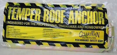 Guardian Fall Protection Temper Reusable 5000 Lb Safety Roof Anchor 00455 New