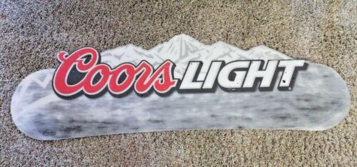 VINTAGE COORS LIGHT BEER SIGN~WALL OR HANGING~NEW ~COLD AS THE ROCKIES