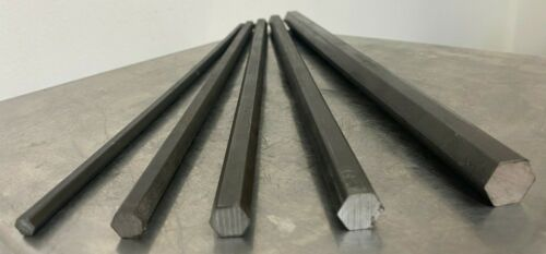 1144 stress-proof Steel Bar Stock Assortment (5 Hexagon Bars) See Description