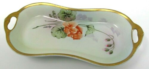"""H&R Studio hand-painted celery dish signed """"Monte"""""""