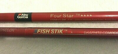 """2"" ABU GARCIA SPINNING RODS(1-FOUR STAR 7'0"")(1-ABU FISH STICK 6'0"") 2-PC."