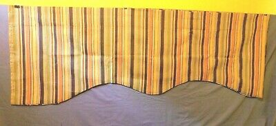 MCM Striped Cornice Valance Vintage Retro Decor Curtains Drapes 160