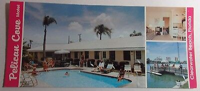 1980'S PHOTO POSTCARD OF PELICAN COVE MOTEL 125 BRIGHTWATER DR CLEARWATER FL