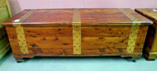 Cedar Chest Blanket Box Brass Banded