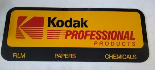 Vintage Double Sided Thick Plastic Kodak Professional Products Store Dealer Sign