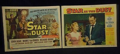 Mamie Van Doren Star In The Dust 1956 Title 2 Lobby Card Lot Western John Agar