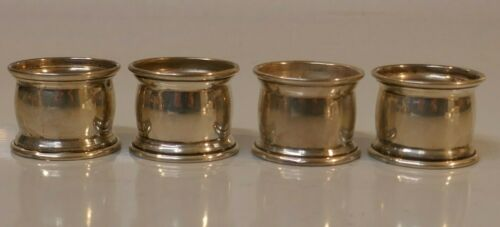 Vintage Set of 4 - Egyptian Sterling Silver Napkin Rings