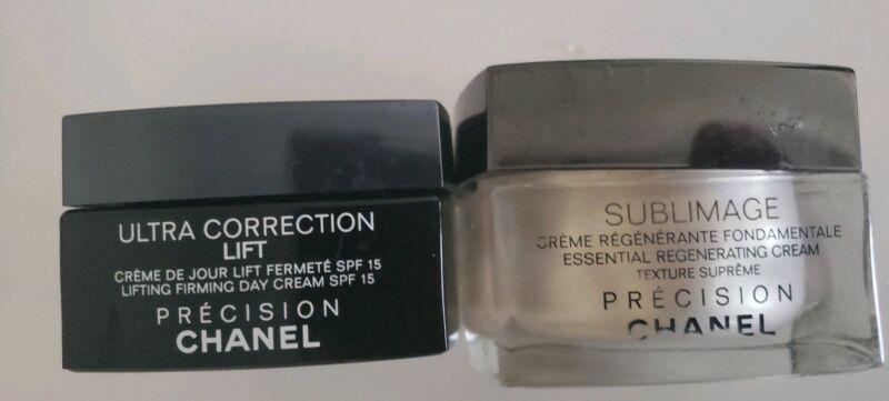 Chanel PRESICION Black and clear Glass Empty Jars