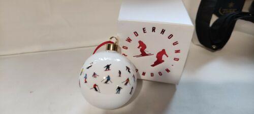 Powerhound+London+Skiing+fine+bone+china+Christmas+Bauble+Ornament+