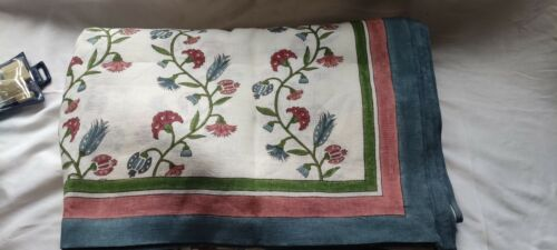 Birdie Fortescue Anatolia  linen tablecloth Large 170 x 400cm RRP £195