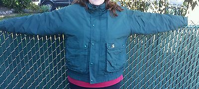 Woodland Nylon Parka - Carhartt Forest Green Insulated Winter Nylon Parka Jacket Size 2XL  Nice Cond.