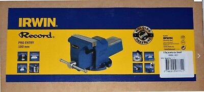 """Irwin Record Pro Entry Mechanic's Vice 100mm ( 4"""" ) NEW & BOXED"""