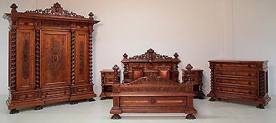Großes 7- teiliges Schlafzimmer aus dem Danziger Barock Antik Kolosseum