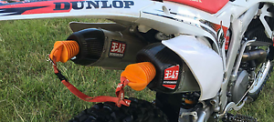 Yoshimura twin pipes with header 13/14 crf450 Glen Eden Gladstone City Preview