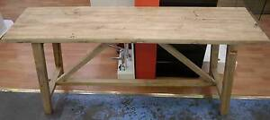 New Recycled Natural Rustic Timber Side Hall Tables Bench Console Melbourne CBD Melbourne City Preview