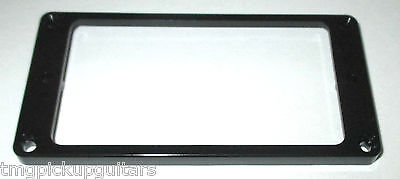 Pickup PU Tonabnehmer HUmbucker Rahmen flach schwarz 5 mm hoch