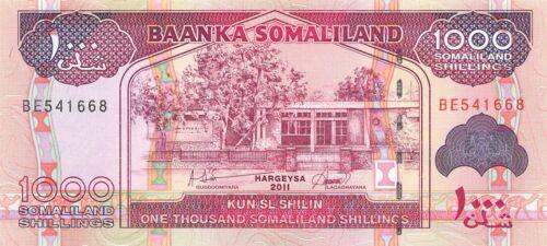 Somaliland  1000/-  2011  Prefix BE  Uncirculated Banknote , G7